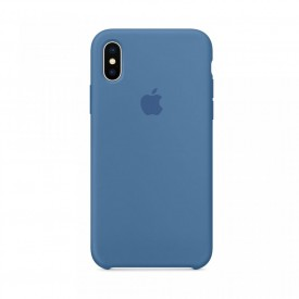Husa Apple iPhone X MyStyle , Silicon antisoc, Albastru