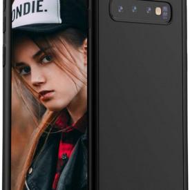 Husa Samsung Galaxy S10 Plus, FullBody Elegance Luxury Negru, acoperire completa 360 grade cu folie de protectie gratis