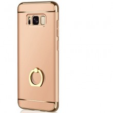 Husa Samsung Galaxy S8 Plus, Elegance Luxury 3in1 Ring Gold