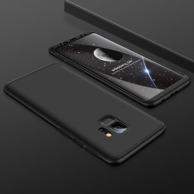 Husa Samsung Galaxy S9 Plus, FullBody Elegance Luxury Negru, acoperire completa 360 grade cu folie de protectie gratis