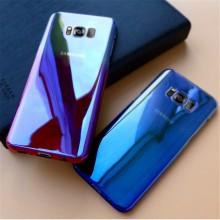 Husa Samsung Galaxy S9 Plus, Gradient Color Cameleon Albastru-Galben
