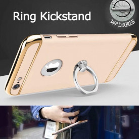 Pachet husa Elegance Luxury 3in1 Ring Gold pentru Apple iPhone 6 / Apple iPhone 6S cu folie de sticla gratis