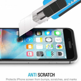 Pachet husa Elegance Luxury Black antisoc cu decupaj logo pentru Apple iPhone 7 Plus cu folie de sticla gratis