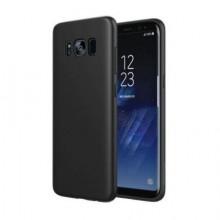 Pachet husa Elegance Luxury Slim Antisoc Black pentru Samsung Galaxy S8 cu folie de sticla Black gratis !