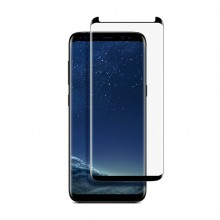 Pachet husa Elegance Luxury Slim Antisoc Black pentru Samsung Galaxy S8 plus cu folie de sticla mini Black gratis !