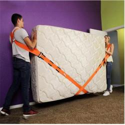 Set 2 curele pentru ridicat si transportat mobilier, cu lungime reglabila, rezistenta 1000kg,