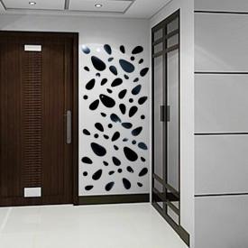 Set Oglinzi Design 3D Silver Piatra Cubica MyStyle® - Oglinzi Decorative Acrilice Luxury Home 12 buc/set