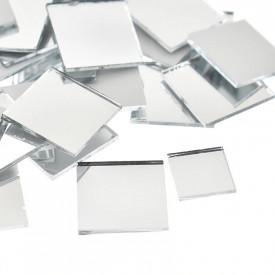 Set Oglinzi Design Patrat 4/4 cm - Decorative Acrilice Silver 1000 buc
