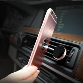 Suport auto magnetic gold pentru telefoane mobile, prindere la ventilatie !