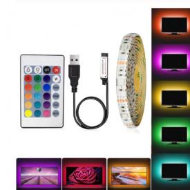 Banda LED USB pentru Iluminare Ambientala in Spatele Televizorului Backlight TV RGB