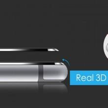 Folie de sticla Apple iPhone 6 Plus/6S Plus, Elegance Luxury cu rama metalica Black