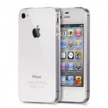 Husa Apple iPhone 4/4S, TPU slim transparent