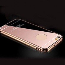 Husa Apple iPhone 5/5S/SE, Elegance Luxury tip oglinda Rose-Gold