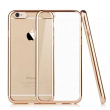 Husa Apple iPhone 6/6S, placata Auriu (ELECTROPLATING GOLD)