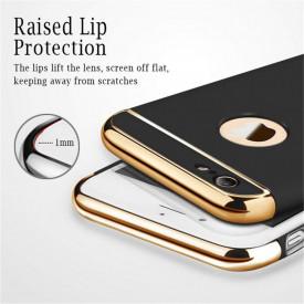 Husa Apple iPhone 6 Plus/6S Plus, Elegance Luxury 3in1 Ring Black
