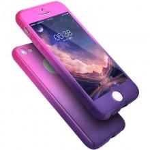 Husa Apple iPhone 7, FullBody Elegance Luxury Degrade, acoperire completa 360 grade cu folie de sticla gratis