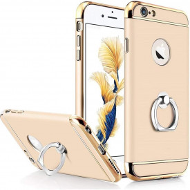 Husa Apple iPhone 8 Plus, Elegance Luxury 3in1 Ring Auriu