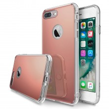 Husa Apple iPhone 8 Plus, Elegance Luxury tip oglinda Rose-Gold