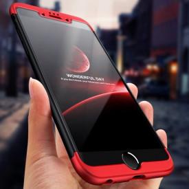 Husa Apple iPhone SE2, FullBody 360° 3in1 Negru-Rosu
