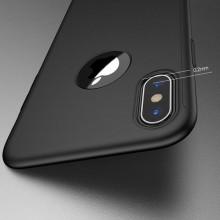 Husa Apple iPhone X, FullBody Elegance Luxury iPaky Black , acoperire completa 360 grade cu folie de sticla gratis