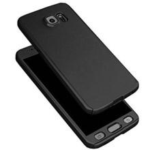 Husa FullBody Elegance Luxury Black pentru Samsung Galaxy S6 acoperire completa 360 grade cu folie de protectie gratis