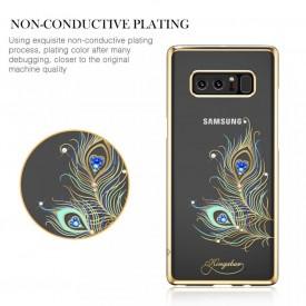 Husa Kingxbar pentru Samsung Galaxy Note 8 design Cristale Swarovski - Gold