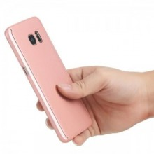 Husa Samsung Galaxy S6 Edge, FullBody Elegance Luxury Rose-Gold, acoperire completa 360 grade cu folie de protectie gratis