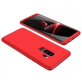 Husa Samsung Galaxy S9 Plus, FullBody Elegance Luxury Rosu, acoperire completa 360 grade cu folie de protectie gratis