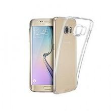 Pachet husa Elegance Luxury slim transparenta pentru Samsung Galaxy S6 Edge cu folie de protectie gratis