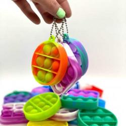 Pop-it cu breloc Jucarie antistres finger diverse forme