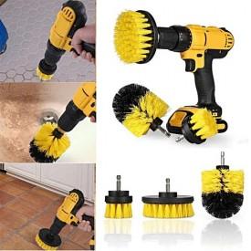 Set Perii pentru Mocheta & Uz Caznic/Profesional Detailing Carpet Brush cu Adaptor Bormasina