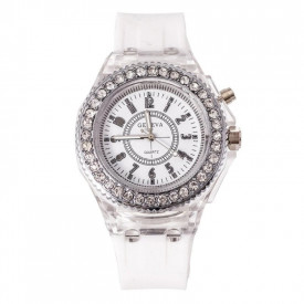 Ceas Activ LED - Jocuri de lumina 7 culori - 4 moduri flash - MyStyle Fashion Crystal Clasic watch