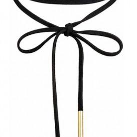 Choker Fashion Black Snur - Colier elegant pentru gat - Black Delux