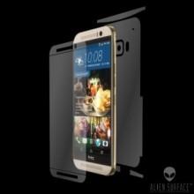Folie Alien Surface HD, HTC One M9, protectie ecran, spate, laterale + Alien Fiber Cadou