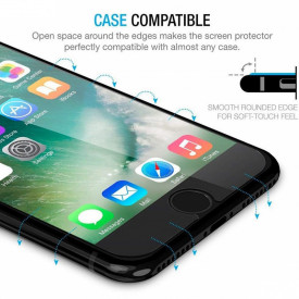 Folie de sticla case friendly Apple iPhone 7 Plus/8 Plus, Elegance Luxury transparenta