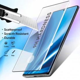 Folie de sticla pentru Samsung Galaxy Note 10, cu margini colorate Negru