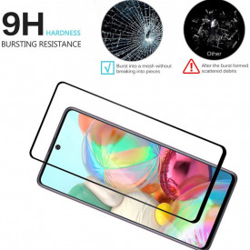 Folie de sticla Samsung Galaxy A51, 5D FULL GLUE Negru