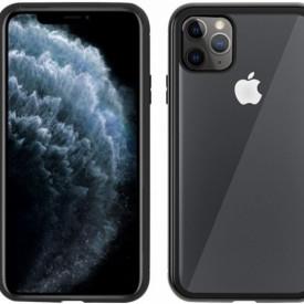 Husa Apple iPhone 11 PRO MAX Negru, Perfect Fit cu spate de sticla securizata premium