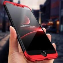 Husa Apple iPhone 6 Plus/Plus 6S, FullBody 360° 3in1 Negru-Rosu