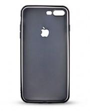 Husa Apple iPhone 7, Black antisoc cu decupaj logo