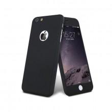 Husa Apple iPhone 7, FullBody Elegance Luxury iPaky Black, acoperire completa 360 grade cu folie de sticla gratis