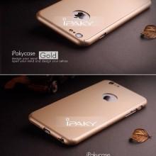Husa Apple iPhone 7, FullBody Elegance Luxury iPaky Gold , acoperire completa 360 grade cu folie de sticla gratis