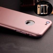 Husa Apple iPhone 7, FullBody Elegance Luxury iPaky Rose-Gold , acoperire completa 360 grade cu folie de sticla gratis
