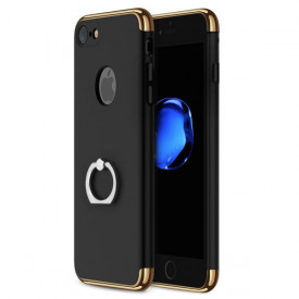 Husa Apple iPhone 8, Elegance Luxury 3in1 Ring Negru