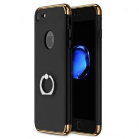 Husa Apple iPhone 8, Elegance Luxury 3in1 Ring Negru