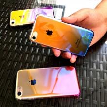 Husa Apple iPhone 8, Gradient Color Cameleon Roz / Pink