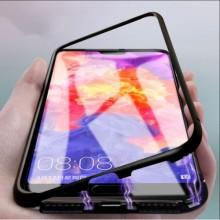 Husa Apple iPhone 8, Magnetica 360 grade Negru, Perfect Fit cu spate de sticla securizata premium + folie de sticla pentru ecran gratis