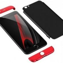 Husa Apple iPhone 8 Plus, FullBody 360° 3in1 Negru-Rosu