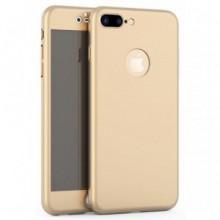 Husa Apple iPhone 8 Plus, FullBody Elegance Luxury Auriu, acoperire completa 360 grade cu folie de sticla gratis