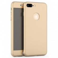 Husa Apple iPhone 8 Plus, FullBody Elegance Luxury Gold, acoperire completa 360 grade cu folie de sticla gratis